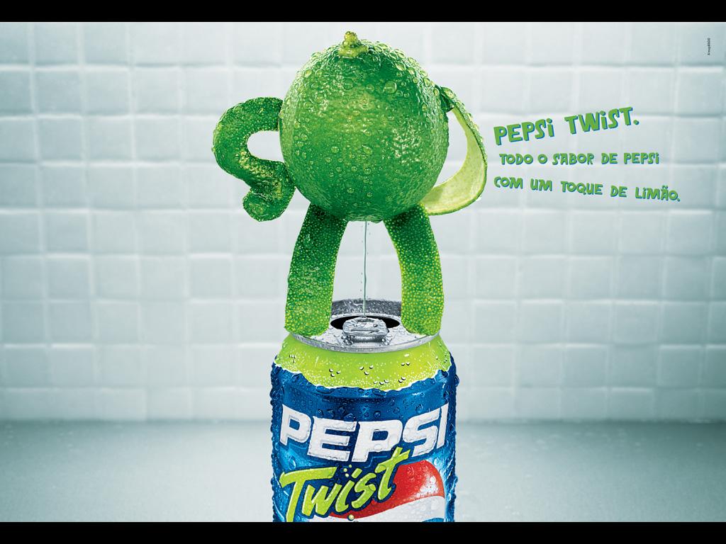 Limão urinando em lata de Pepsi Twist