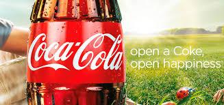 cartaz coca-cola abra a felicidade